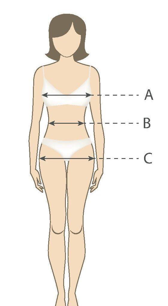 Размерная сетка к спортивной женской одежде